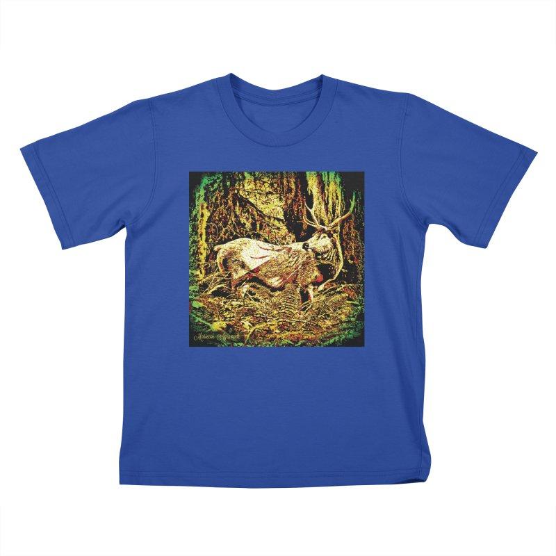 Antlers in the Wild Kids T-Shirt by MariecorAgravante's Artist Shop