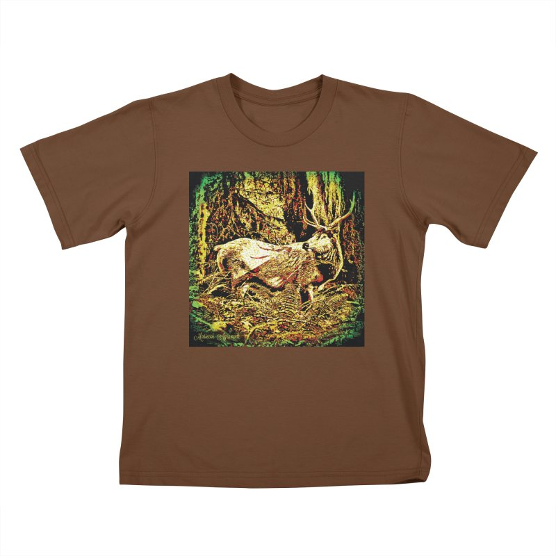 Antlers in the Wild Kids T-Shirt by MariecorAgravante's Artist Shop