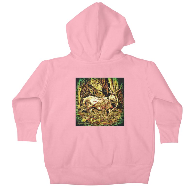 Antlers in the Wild Kids Baby Zip-Up Hoody by MariecorAgravante's Artist Shop