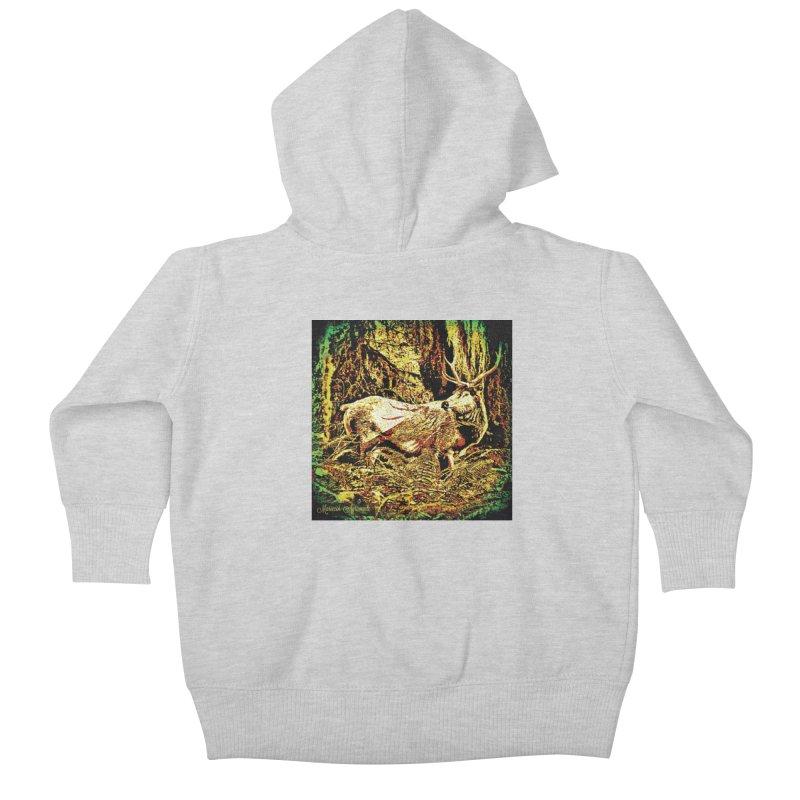 Antlers in the Wild Kids Baby Zip-Up Hoody by MariecorAgravante's Artist Shop
