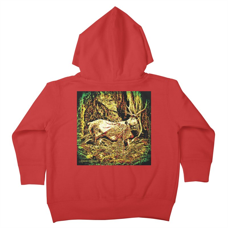 Antlers in the Wild Kids Toddler Zip-Up Hoody by MariecorAgravante's Artist Shop