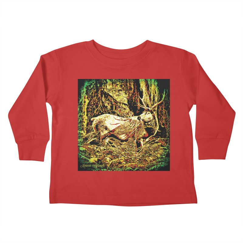 Antlers in the Wild Kids Toddler Longsleeve T-Shirt by MariecorAgravante's Artist Shop