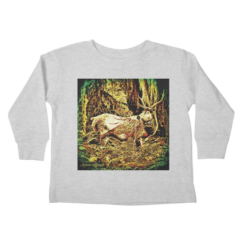 Antlers in the Wild Kids Toddler Longsleeve T-Shirt by MariecorAgravante's Artist Shop