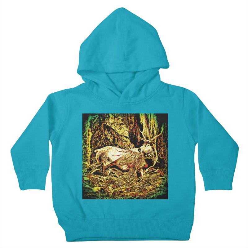Antlers in the Wild Kids Toddler Pullover Hoody by MariecorAgravante's Artist Shop