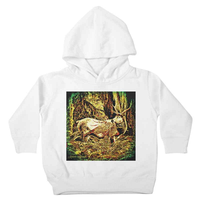 Antlers in the Wild Kids Toddler Pullover Hoody by MariecorAgravante's Artist Shop