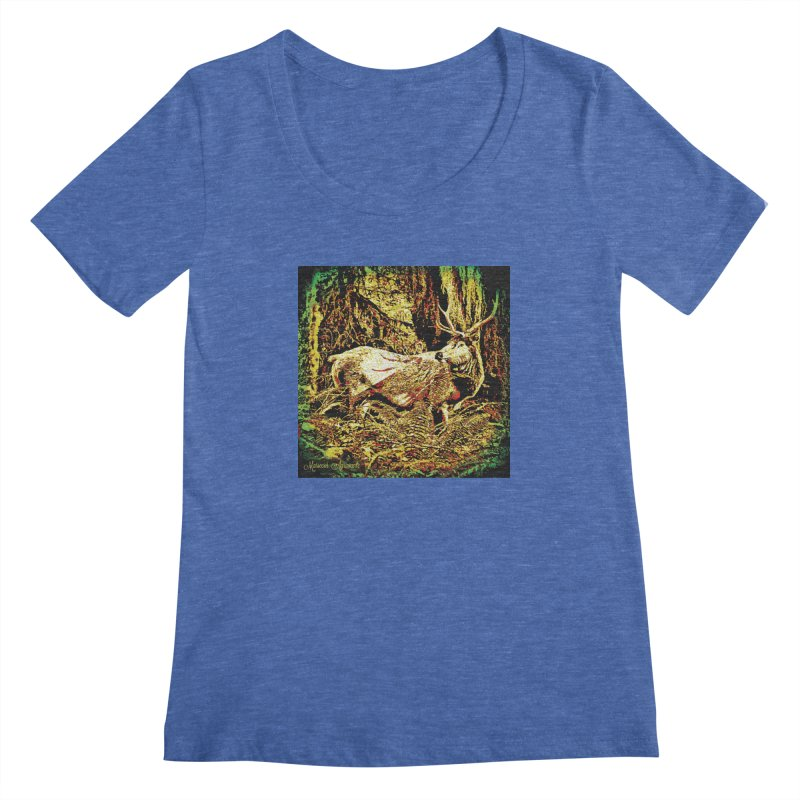 Antlers in the Wild Women's Regular Scoop Neck by MariecorAgravante's Artist Shop