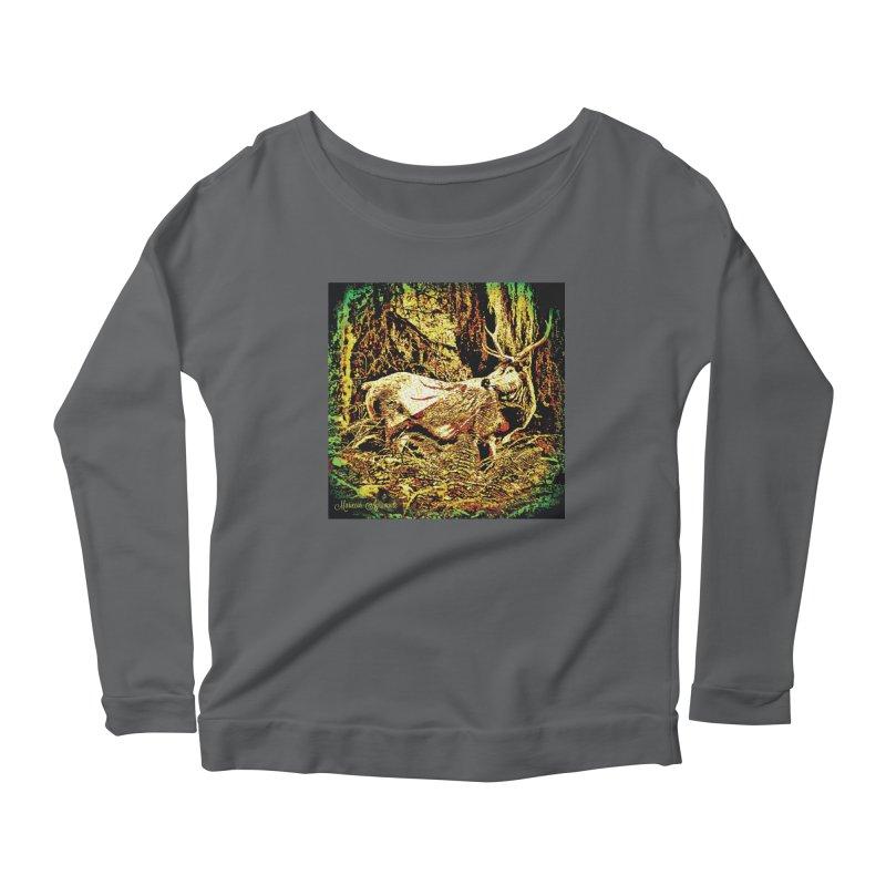 Antlers in the Wild Women's Longsleeve T-Shirt by MariecorAgravante's Artist Shop