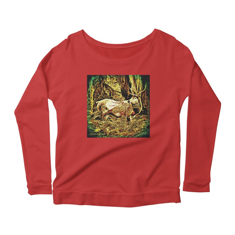 Antlers in the Wild Women's Scoop Neck Longsleeve T-Shirt by MariecorAgravante's Artist Shop