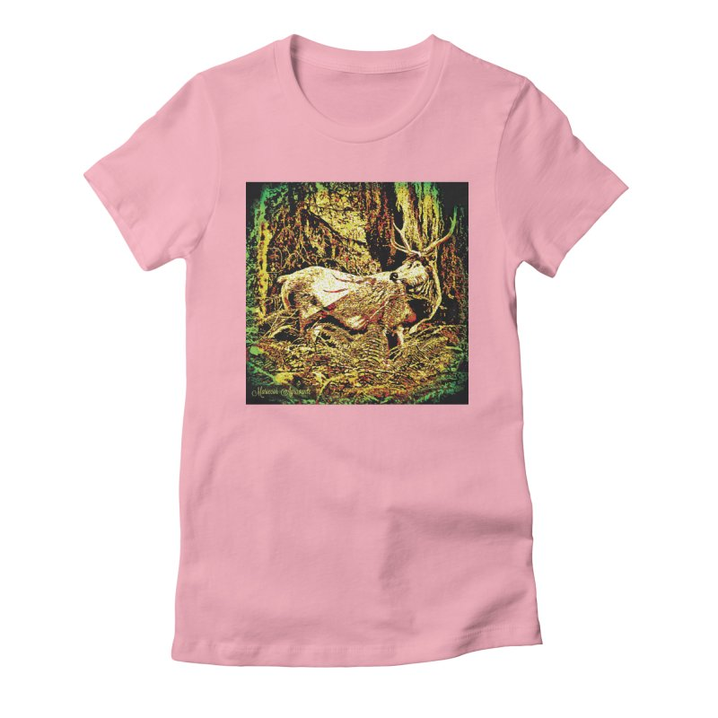 Antlers in the Wild Women's Fitted T-Shirt by MariecorAgravante's Artist Shop
