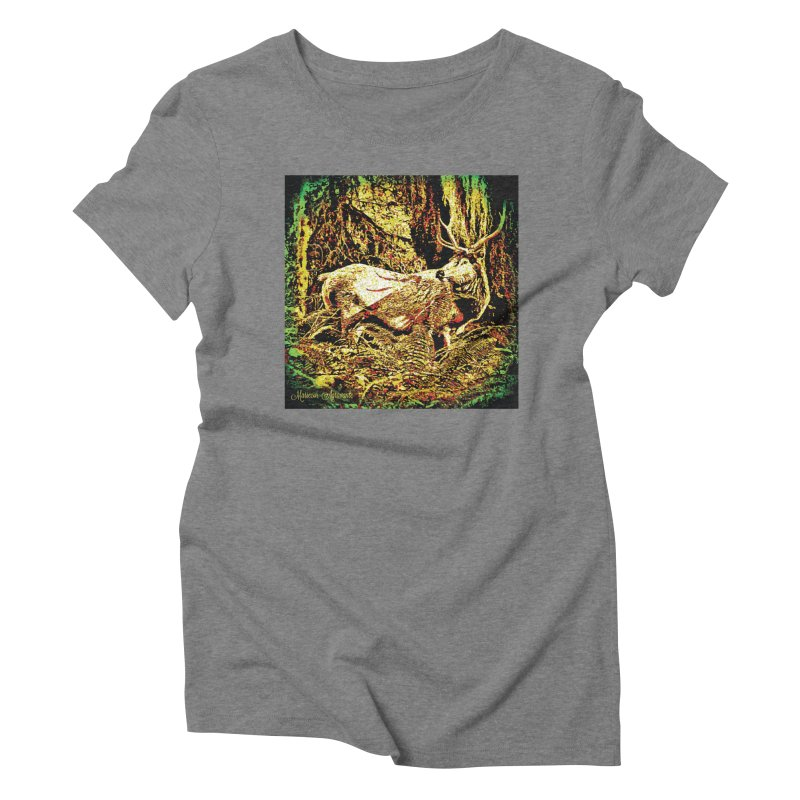 Antlers in the Wild Women's Triblend T-Shirt by MariecorAgravante's Artist Shop