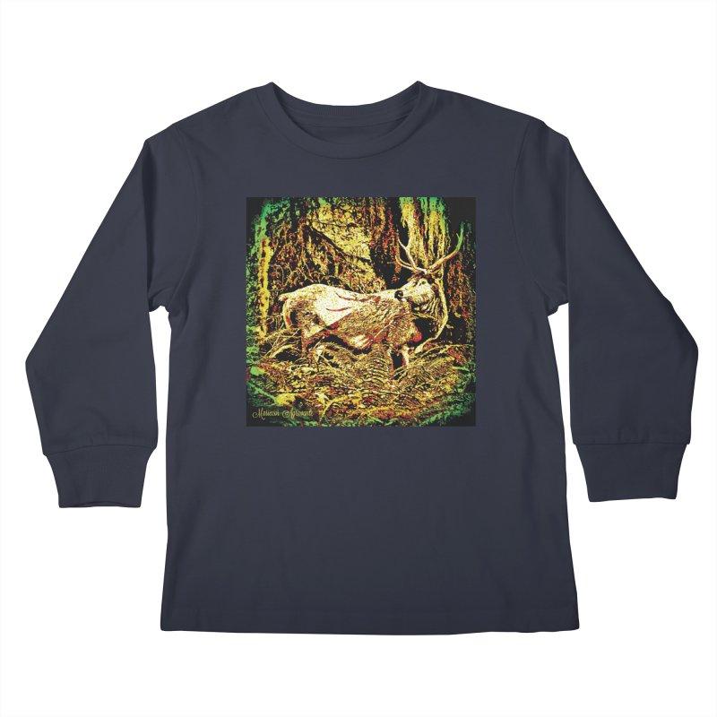 Antlers in the Wild Kids Longsleeve T-Shirt by MariecorAgravante's Artist Shop