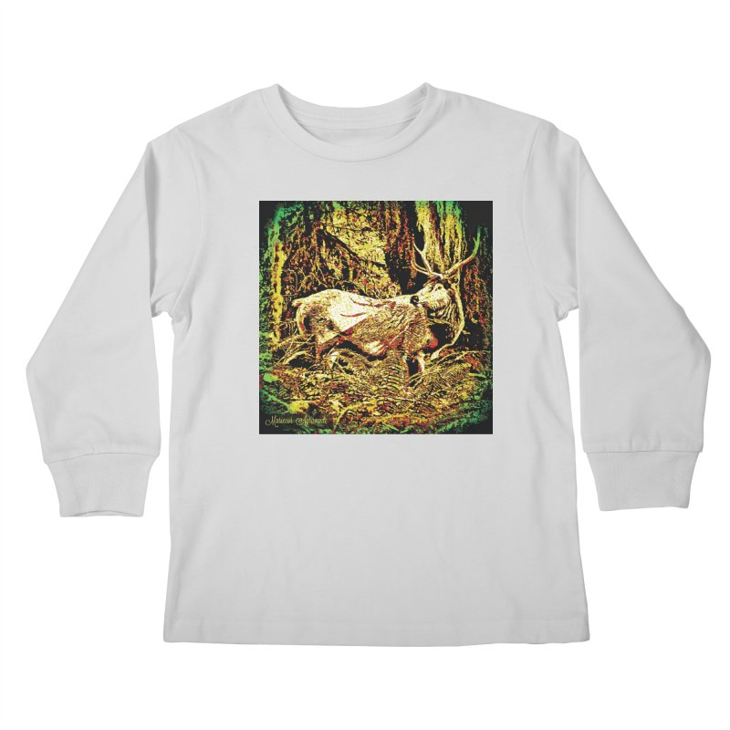 Antlers in the Wild Kids Longsleeve T-Shirt by MariecorAgravante's Artist Shop