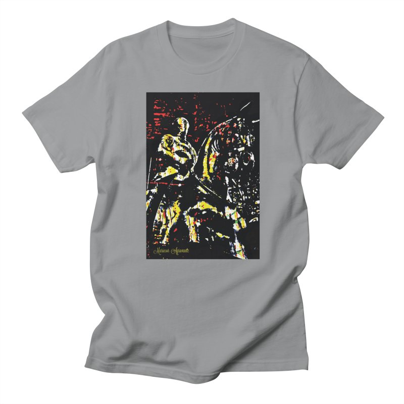 Armored Knight and Steed Women's Regular Unisex T-Shirt by MariecorAgravante's Artist Shop
