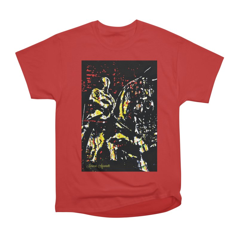 Armored Knight and Steed Men's Heavyweight T-Shirt by MariecorAgravante's Artist Shop