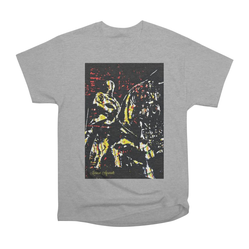Armored Knight and Steed Women's Classic Unisex T-Shirt by MariecorAgravante's Artist Shop