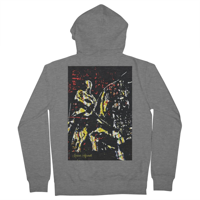 Armored Knight and Steed Women's French Terry Zip-Up Hoody by MariecorAgravante's Artist Shop