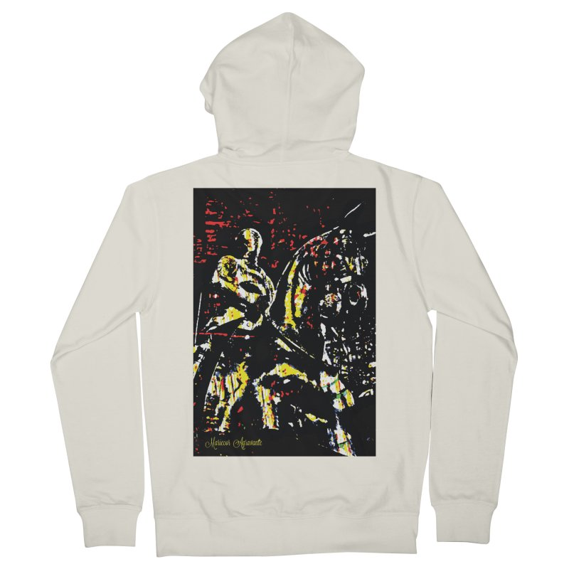 Armored Knight and Steed Men's French Terry Zip-Up Hoody by MariecorAgravante's Artist Shop