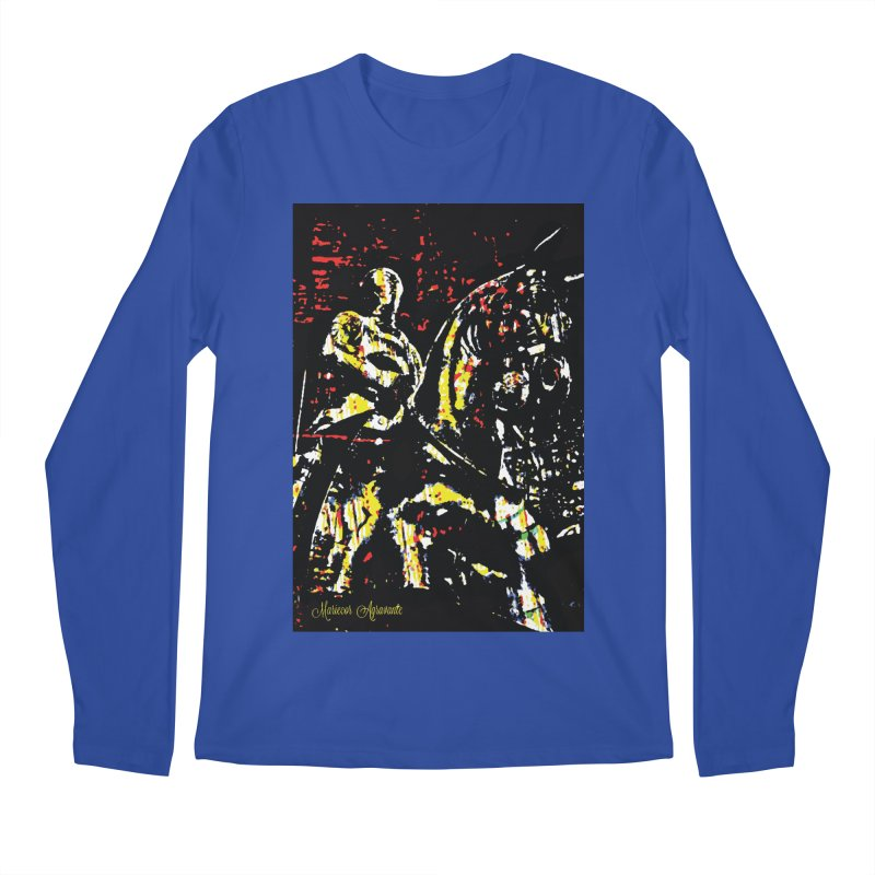 Armored Knight and Steed Men's Regular Longsleeve T-Shirt by MariecorAgravante's Artist Shop