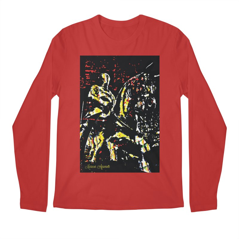 Armored Knight and Steed Men's Longsleeve T-Shirt by MariecorAgravante's Artist Shop
