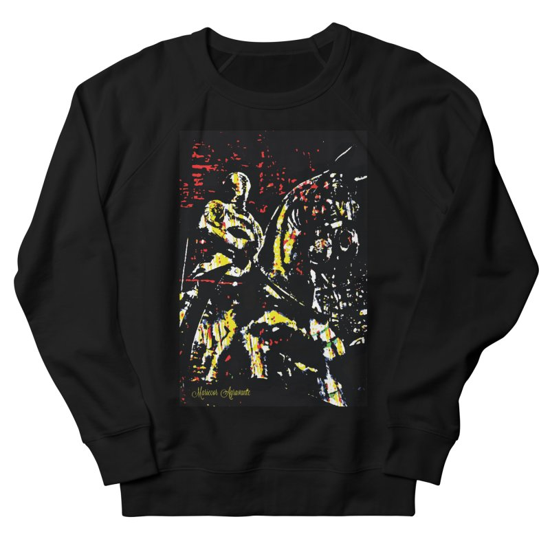 Armored Knight and Steed Men's Sweatshirt by MariecorAgravante's Artist Shop