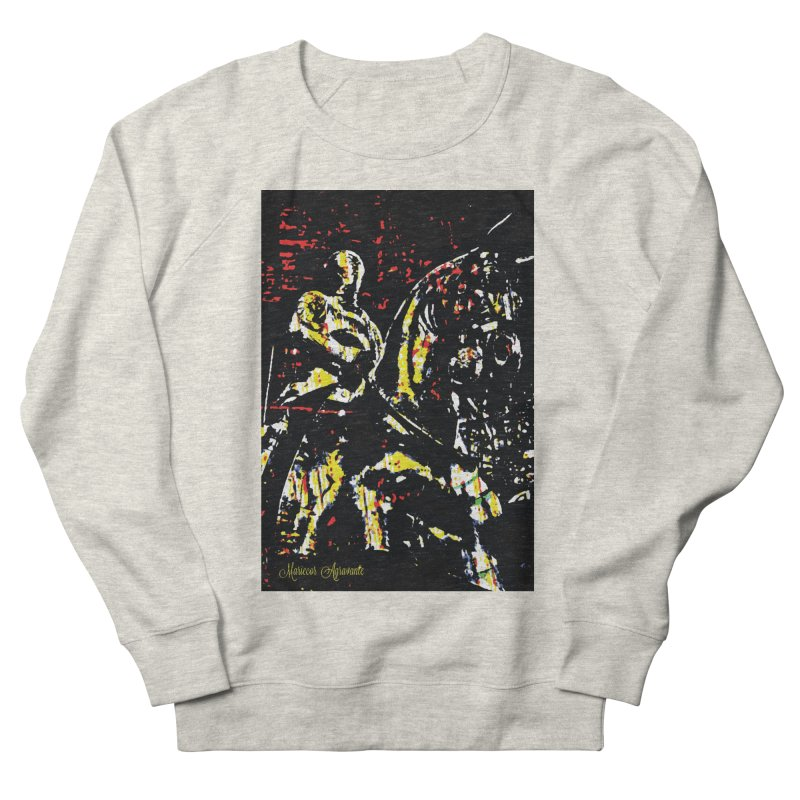 Armored Knight and Steed Men's French Terry Sweatshirt by MariecorAgravante's Artist Shop