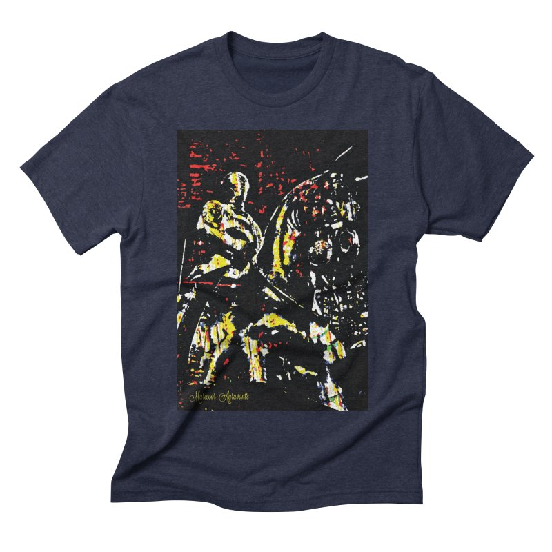 Armored Knight and Steed Men's Triblend T-Shirt by MariecorAgravante's Artist Shop