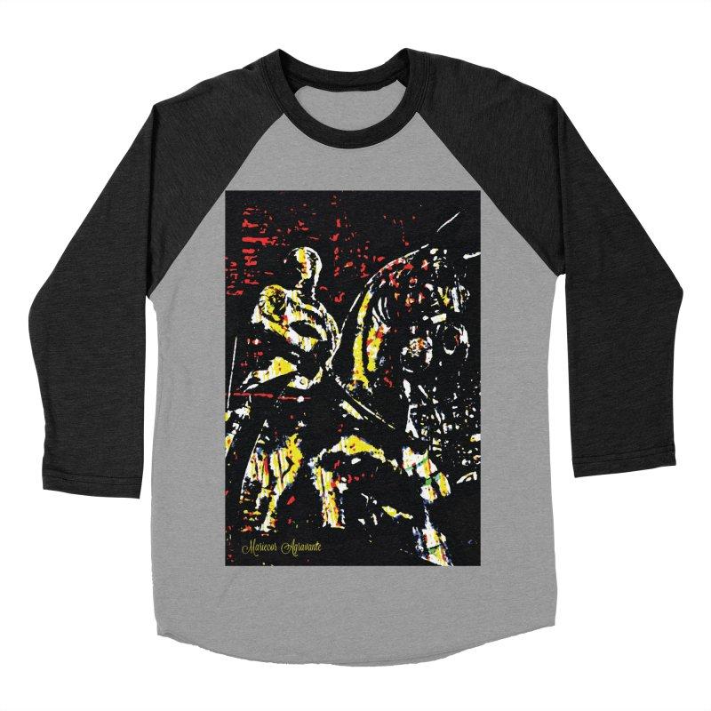 Armored Knight and Steed Women's Baseball Triblend Longsleeve T-Shirt by MariecorAgravante's Artist Shop