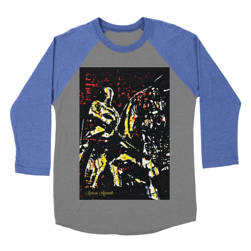 Armored Knight and Steed Men's Baseball Triblend T-Shirt by MariecorAgravante's Artist Shop