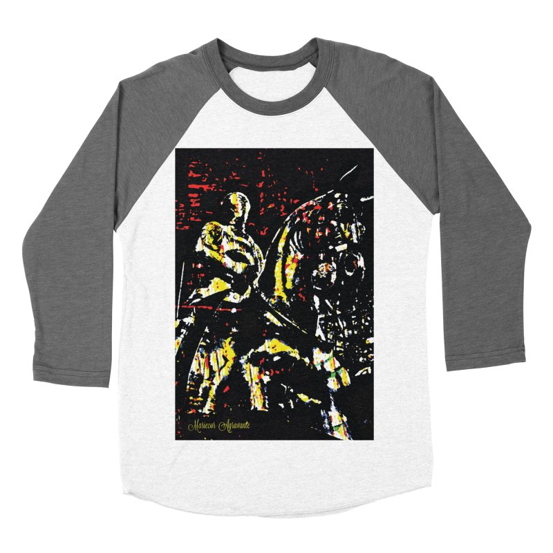 Armored Knight and Steed Men's Baseball Triblend Longsleeve T-Shirt by MariecorAgravante's Artist Shop