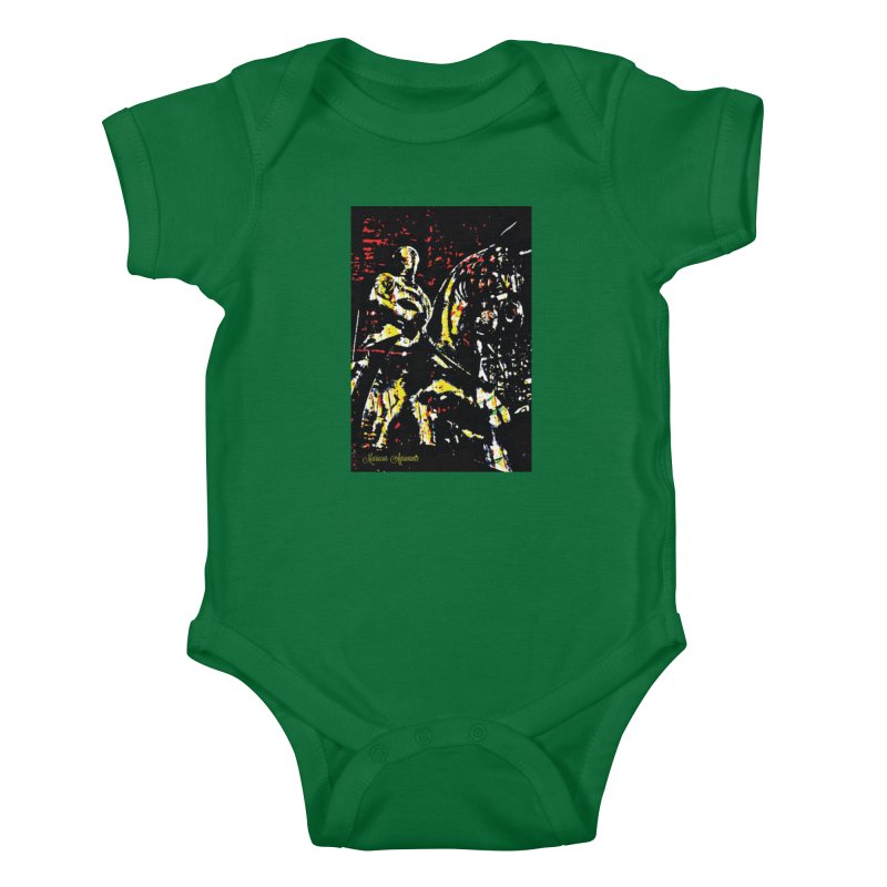 Armored Knight and Steed Kids Baby Bodysuit by MariecorAgravante's Artist Shop