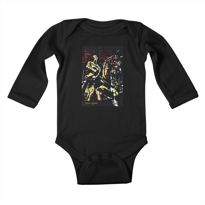 Armored Knight and Steed Kids Baby Longsleeve Bodysuit by MariecorAgravante's Artist Shop