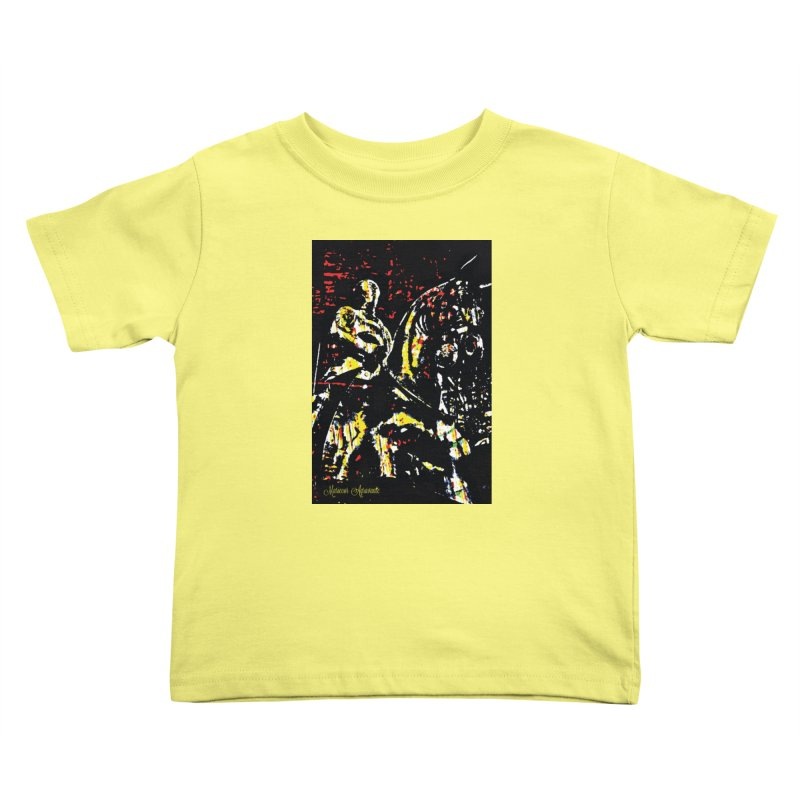 Armored Knight and Steed Kids Toddler T-Shirt by MariecorAgravante's Artist Shop