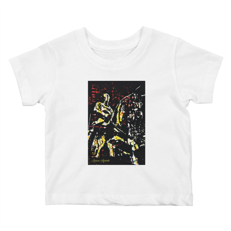 Armored Knight and Steed Kids Baby T-Shirt by MariecorAgravante's Artist Shop