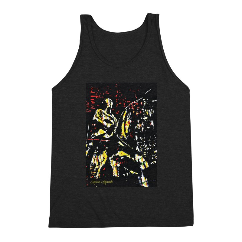 Armored Knight and Steed Men's Triblend Tank by MariecorAgravante's Artist Shop
