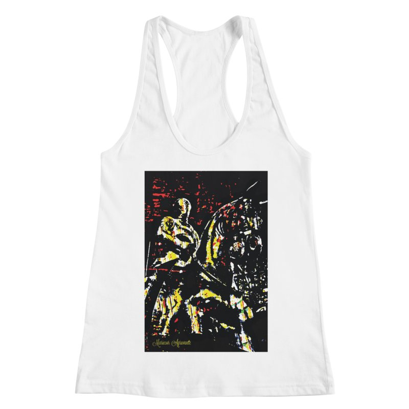 Armored Knight and Steed Women's Racerback Tank by MariecorAgravante's Artist Shop