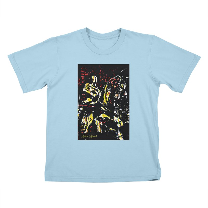 Armored Knight and Steed Kids T-Shirt by MariecorAgravante's Artist Shop
