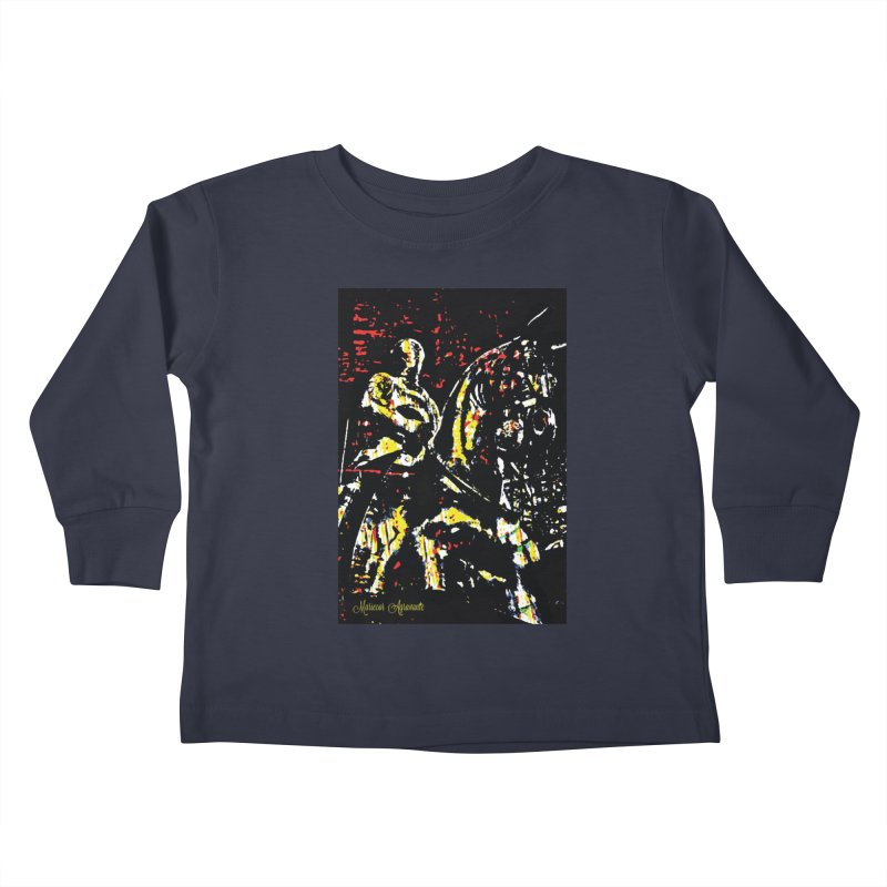 Armored Knight and Steed Kids Toddler Longsleeve T-Shirt by MariecorAgravante's Artist Shop