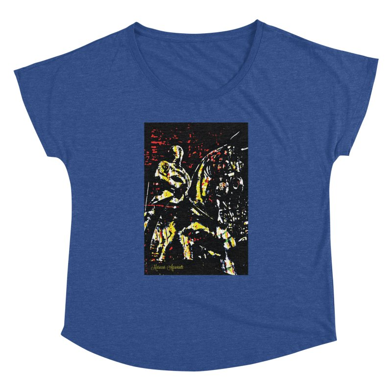 Armored Knight and Steed Women's Dolman Scoop Neck by MariecorAgravante's Artist Shop