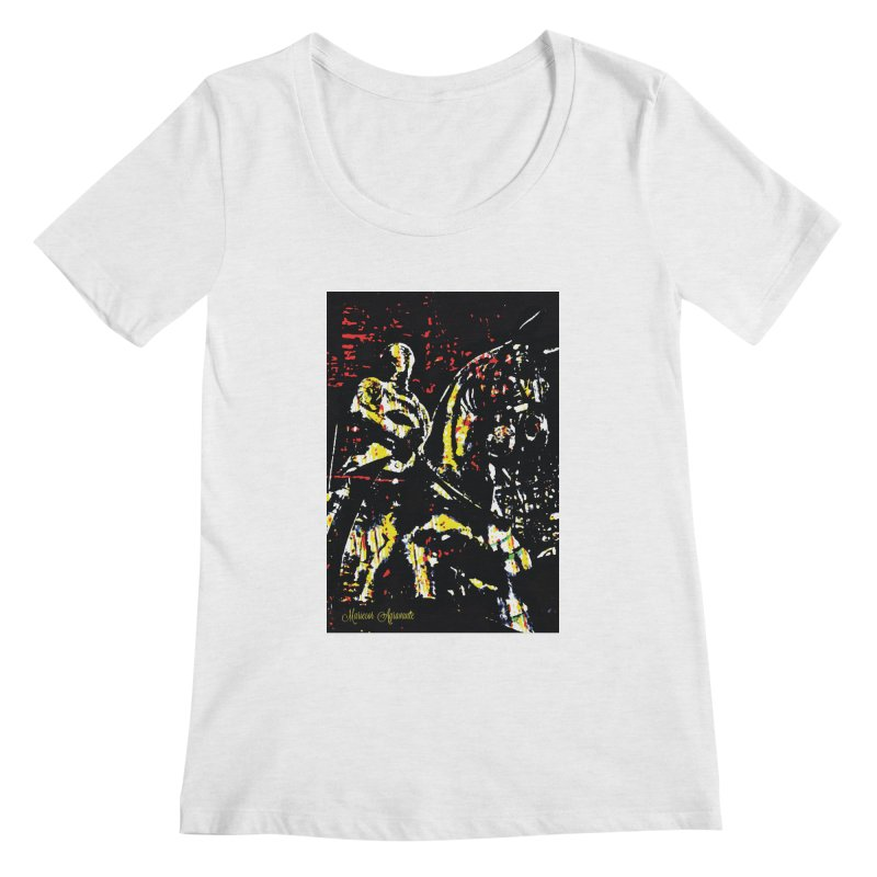 Armored Knight and Steed Women's Regular Scoop Neck by MariecorAgravante's Artist Shop