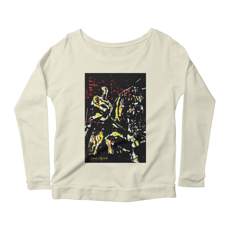 Armored Knight and Steed Women's Longsleeve Scoopneck  by MariecorAgravante's Artist Shop