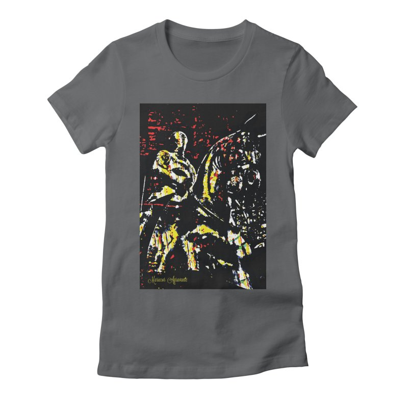 Armored Knight and Steed Women's Fitted T-Shirt by MariecorAgravante's Artist Shop