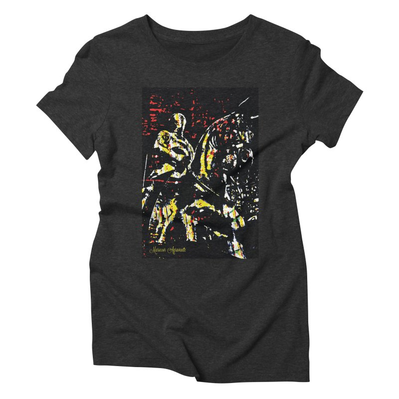 Armored Knight and Steed Women's Triblend T-Shirt by MariecorAgravante's Artist Shop