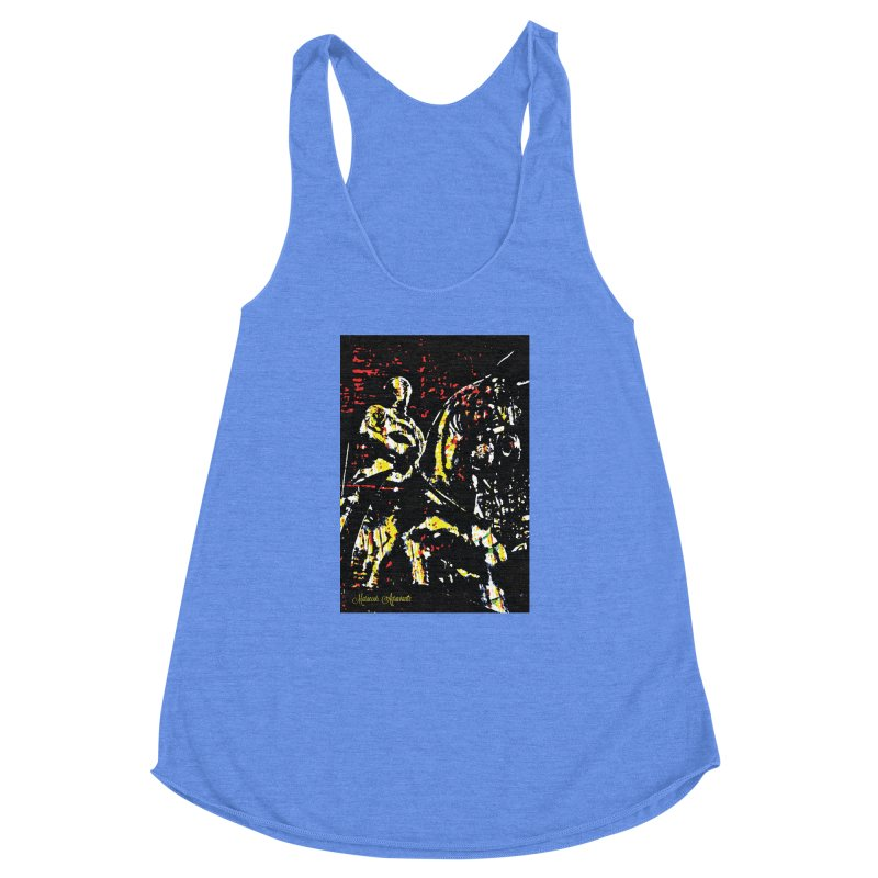 Armored Knight and Steed Women's Racerback Triblend Tank by MariecorAgravante's Artist Shop