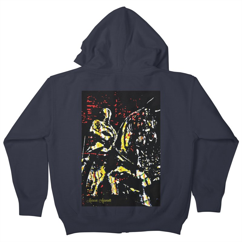 Armored Knight and Steed Kids Zip-Up Hoody by MariecorAgravante's Artist Shop