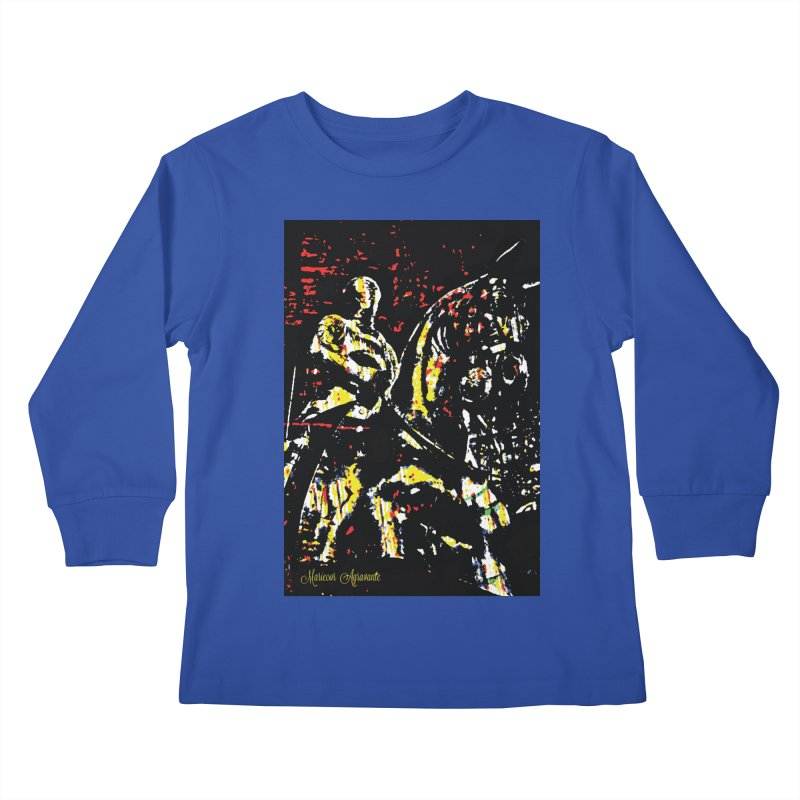 Armored Knight and Steed Kids Longsleeve T-Shirt by MariecorAgravante's Artist Shop