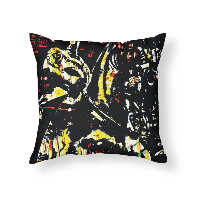Armored Knight and Steed Home Throw Pillow by MariecorAgravante's Artist Shop