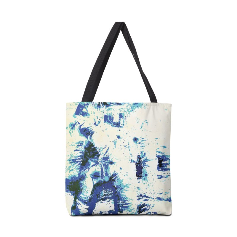 Astronaut in Cool Blue Planet Exploration Accessories Tote Bag Bag by MariecorAgravante's Artist Shop