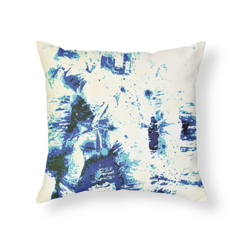 Astronaut in Cool Blue Planet Exploration Home Throw Pillow by MariecorAgravante's Artist Shop