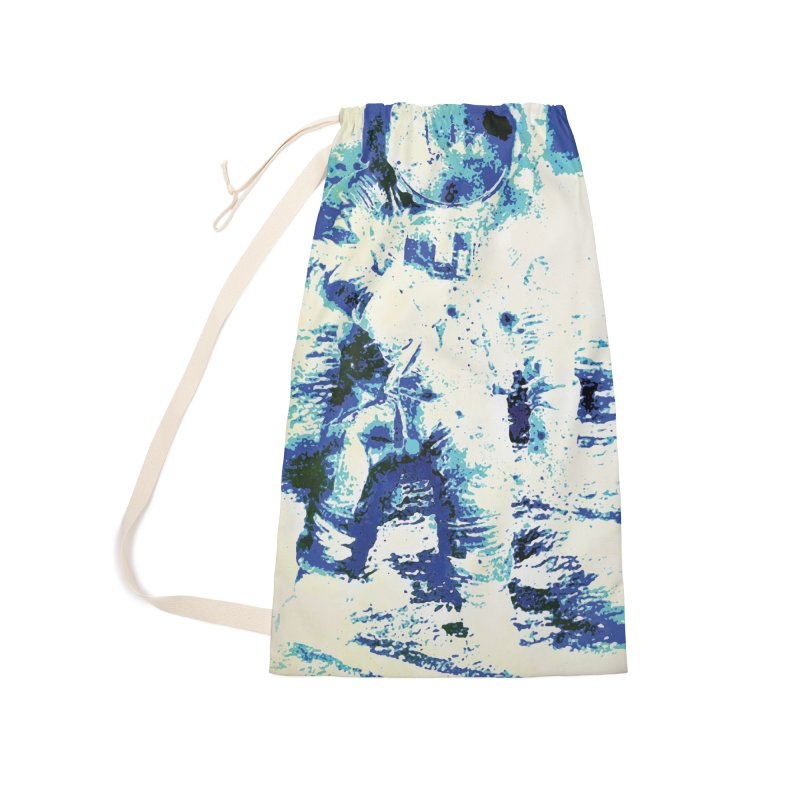 Astronaut in Cool Blue Planet Exploration Accessories Laundry Bag Bag by MariecorAgravante's Artist Shop