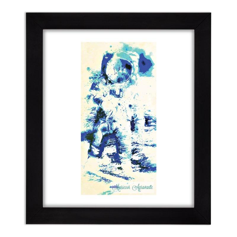 Astronaut in Cool Blue Planet Exploration Home Framed Fine Art Print by MariecorAgravante's Artist Shop